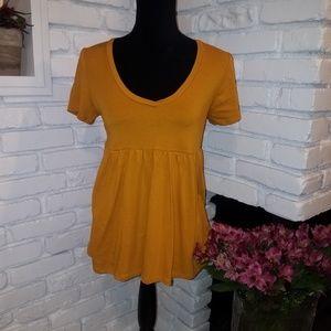 Mustard yellow babydoll tee
